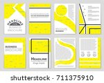 abstract vector layout... | Shutterstock .eps vector #711375910
