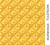 seamless gold colored pattern. | Shutterstock .eps vector #711376144