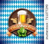 oktoberfest vector illustration ... | Shutterstock .eps vector #711377290