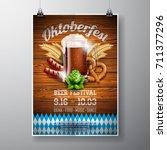 oktoberfest poster vector... | Shutterstock .eps vector #711377296
