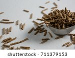 close up of cereal bran stick... | Shutterstock . vector #711379153