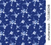 seamless floral pattern.... | Shutterstock .eps vector #711380248