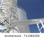 the tank with water and a... | Shutterstock . vector #711383200