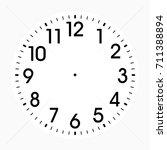 clock face | Shutterstock .eps vector #711388894