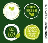 100  organic vector logo design | Shutterstock .eps vector #711390478