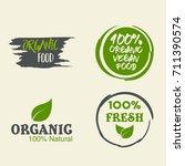 100  organic vector logo design | Shutterstock .eps vector #711390574