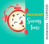 banner for daylight saving time ... | Shutterstock .eps vector #711392320