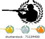 stencil of sniper. vector...