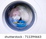washing machine  | Shutterstock . vector #711394663