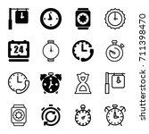 timer icons set. set of 16... | Shutterstock .eps vector #711398470