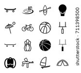 recreation icons set. set of 16 ...   Shutterstock .eps vector #711398500