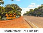 crossing the nullarbor | Shutterstock . vector #711405184