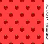 seamless red pepper pattern...   Shutterstock .eps vector #711407740