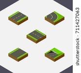 isometric way set of driveway ... | Shutterstock .eps vector #711427063