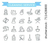 cleaning service icons  thin... | Shutterstock .eps vector #711428800