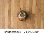 a calabash with yerba mate  ... | Shutterstock . vector #711430204