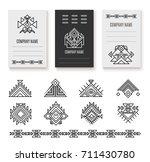 ethnic corporate brochure...   Shutterstock .eps vector #711430780