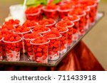 the raspberry is the edible... | Shutterstock . vector #711433918