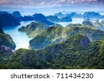 scenic view over ha long bay... | Shutterstock . vector #711434230