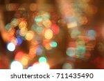 abstract circular bokeh ... | Shutterstock . vector #711435490