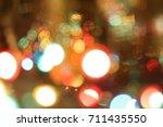 abstract circular bokeh ... | Shutterstock . vector #711435550