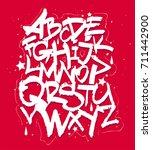 white graffiti handletterin... | Shutterstock .eps vector #711442900