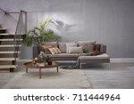 Modern Stone Wall Luxury Livin...