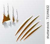 broken paper | Shutterstock .eps vector #71144632