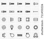 fasteners icons | Shutterstock .eps vector #711453226