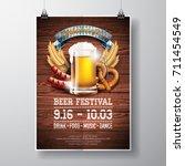 oktoberfest poster vector... | Shutterstock .eps vector #711454549