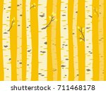 autumn aspen grove  seamless... | Shutterstock .eps vector #711468178