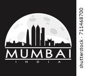 mumbai full moon night skyline... | Shutterstock .eps vector #711468700