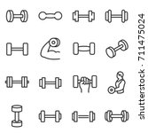 Dumbbell  Icon Set. Collection...