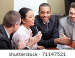 multi ethnic business team at a ... | Shutterstock . vector #71147521