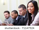 multi ethnic business... | Shutterstock . vector #71147524