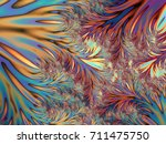 abstract blue and orange... | Shutterstock . vector #711475750