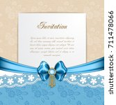 retro background with silk bow. ... | Shutterstock .eps vector #711478066