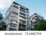 white facaded modern finance... | Shutterstock . vector #711482794