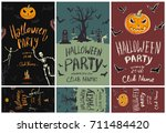 set of posters and flyers for... | Shutterstock .eps vector #711484420
