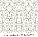 seamless geometric line pattern.... | Shutterstock .eps vector #711484690