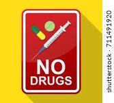 no drugs sign vector...   Shutterstock .eps vector #711491920