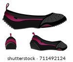 shoe woman purple | Shutterstock .eps vector #711492124