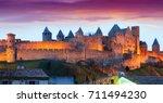 Medieval Castle At Carcassonne...