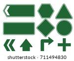 green traffic signs vector | Shutterstock .eps vector #711494830