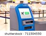 self service machine and help... | Shutterstock . vector #711504550