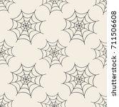 seamless monochrome halloween... | Shutterstock .eps vector #711506608
