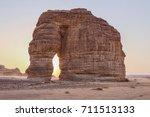 a view of elephant rock  al ula ... | Shutterstock . vector #711513133