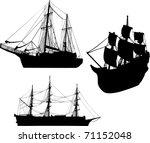 illustration with three ship...   Shutterstock . vector #71152048