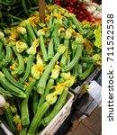 pile of green squash with... | Shutterstock . vector #711522538