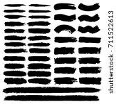 set of hand painted black ... | Shutterstock .eps vector #711522613